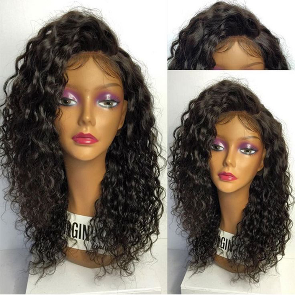 Eversilky Side Part Lace Front Human Hair Wigs Brazilian Virgin Human Hair Wigs With Baby Hair Curly Wig For Women