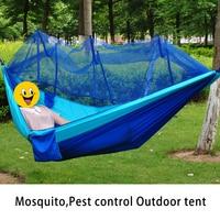 Outdoor Camping Equipment Pest Control Mosquito Net Hammock Rede De Dormir Parachute Hamaca Family Couple Outdoor