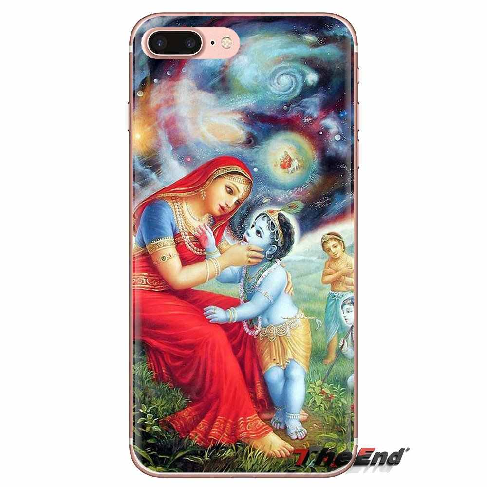 Transparent Soft Case Cover Indian Lord Radha baby Krishna