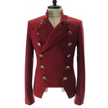 Men's Fashion European Style Double-breasted Casual Lapel Sl