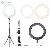 Cadiso 18 дюймовый светодиодный кольцевой светильник освещение для фотосъемки с штативом подставка для камеры смартфона YouTube видеосъемка маки