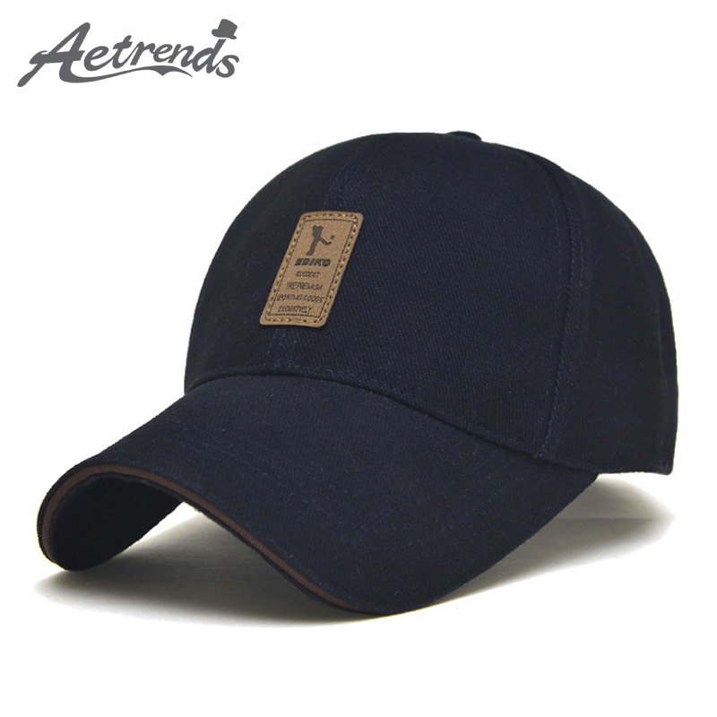 [AETRENDS] Men's Cotton Baseball Cap 6 Panel Snapbacks Bone Polo Hat Z-1936