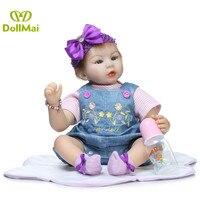 Bebes reborn DollMai 2255cm silicone reborn baby doll soft cotton body newborn baby girl alive dolls children gift dolls toys