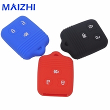 maizhi For FORD Silicone Remote Car Key Case Fob Cover 3 BTNS No Logo Car-styling