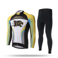 XINTOWN Spring Autumn Team Long Sleeve Cycling Jersey Bib Set Quick Dry Outdoor Sport Coat Clothing