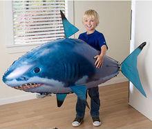1pcs אוויר שחייה דגי צעצועי Drone RC כריש דגי ליצן בלונים נמו מתנפח עם הליום מטוס צעצועי מסיבת ילדים חג המולד מתנה