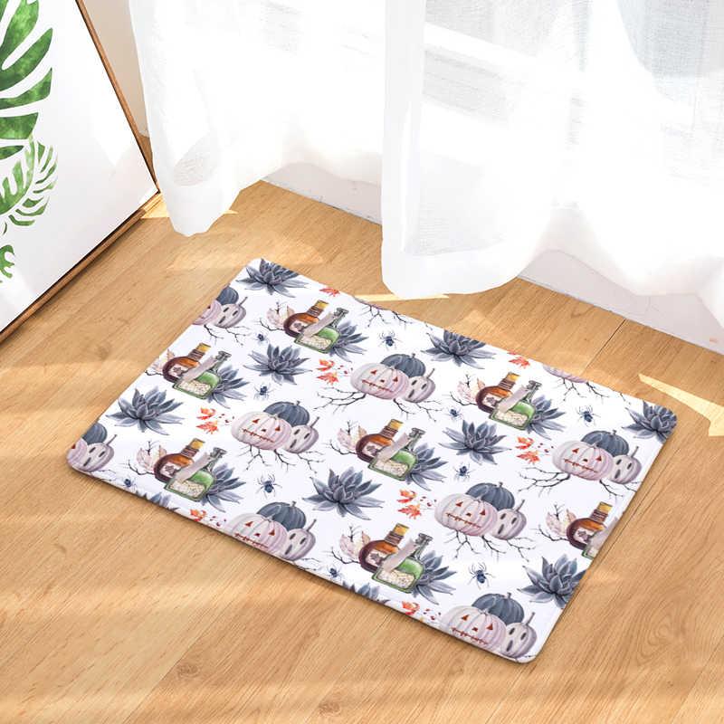 Nueva flor alfombra estampada antideslizante alfombras de cocina para el hogar sala de estar alfombras de piso 40x60cm