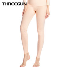 THREEGUN 2019 Women Warm Thermal Pants Slimming Body Shaped Leggings Female Long Johns Ladies Thermal Underpants Sleep Bottoms(China)