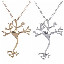 Oly2u 2017 New Fashion Science Jewelry Hippie Chic Neuron Brain Nerve Cell Necklace Colar Boho Neuron Necklaces for Women-N197(China)