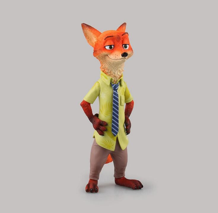 Japan anime cartoon Zootopia Nick Wilde 1/8 Scale Painted PVC children gifts doll Action Figure Collectible Model Toy T5836  funko pop zootopia fox nick 186 pvc action figure collectible model toy 10cm kt2247