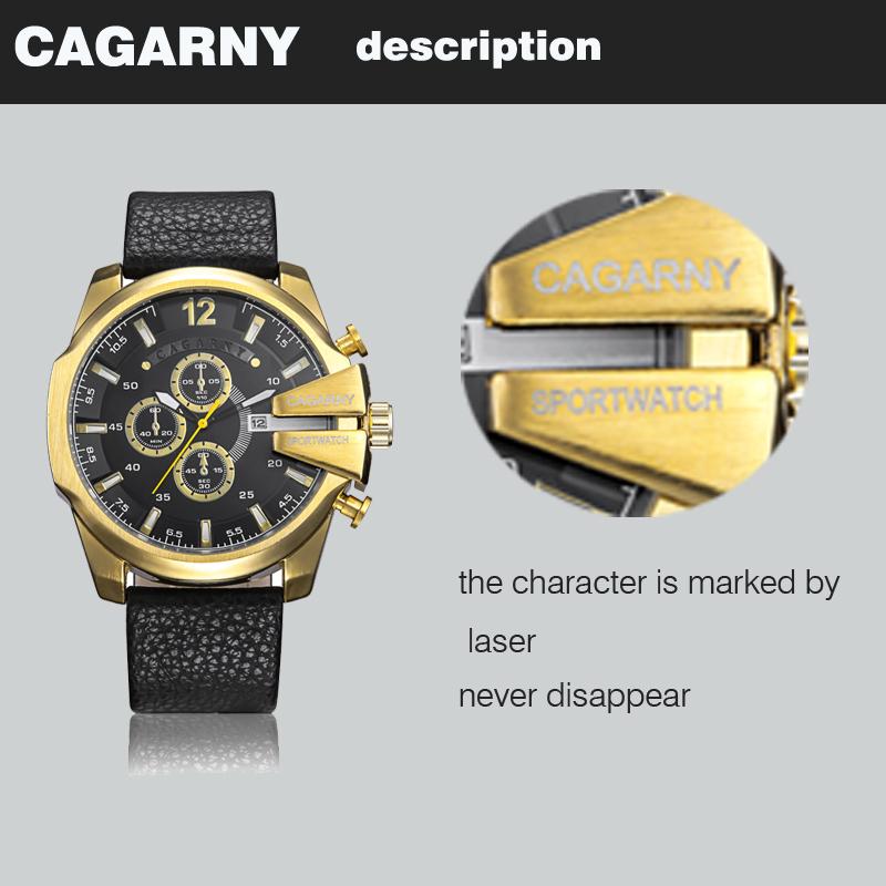 cagarny dz style quartz watch men golden mens watches (7)