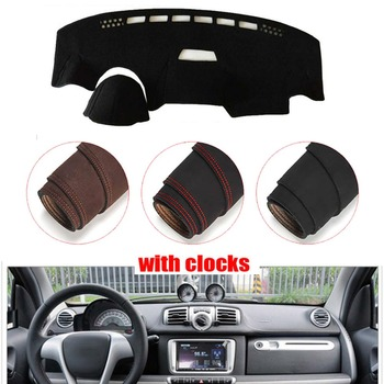 Console Dashboard Suede Mat Protector Sunshield Cover Fit For Benz SMART 2011-2015