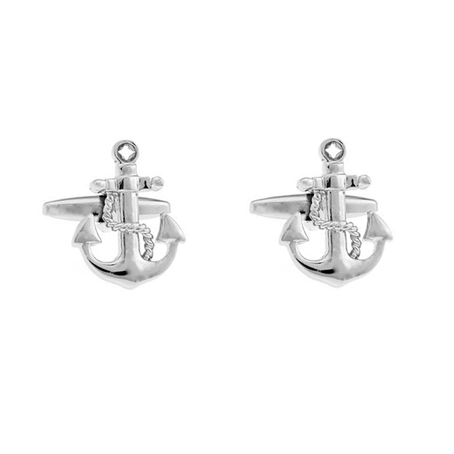 High Anchor Pattern Cuff Links French Shirt Cufflink Brass Lawyer Gemelos Cuffs 10171