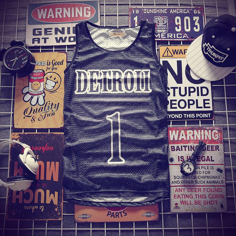 Hip-hop Black No. 1   Tank     Tops   Men's 2018 Summer 3d Mesh Vest Fit Slim Sleeveless Tee Shirts ventilate Bodybuilding Clothing 4XL