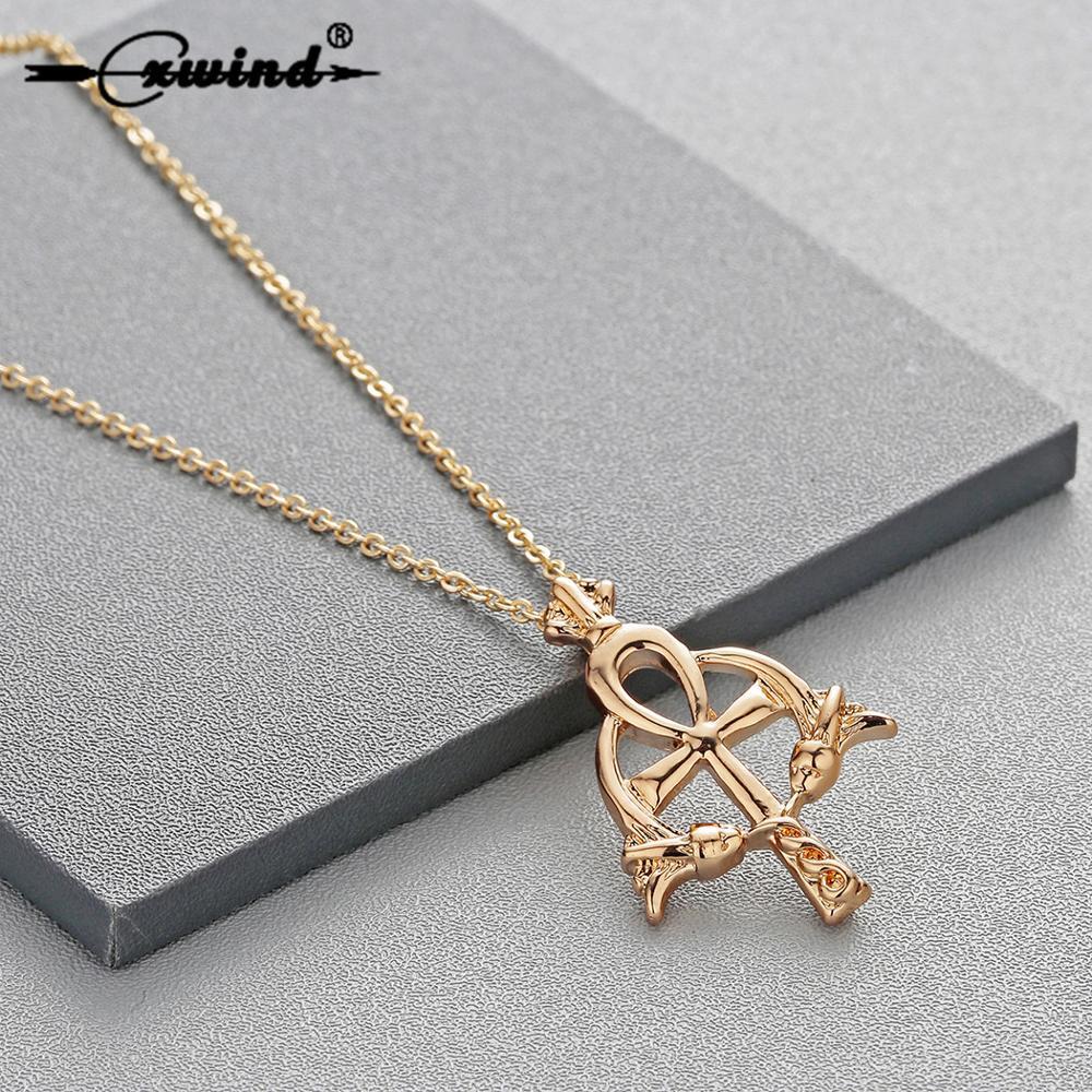 Clear Cross Pendant Rhinestone Necklace Fashion Jewelry FancyCharm