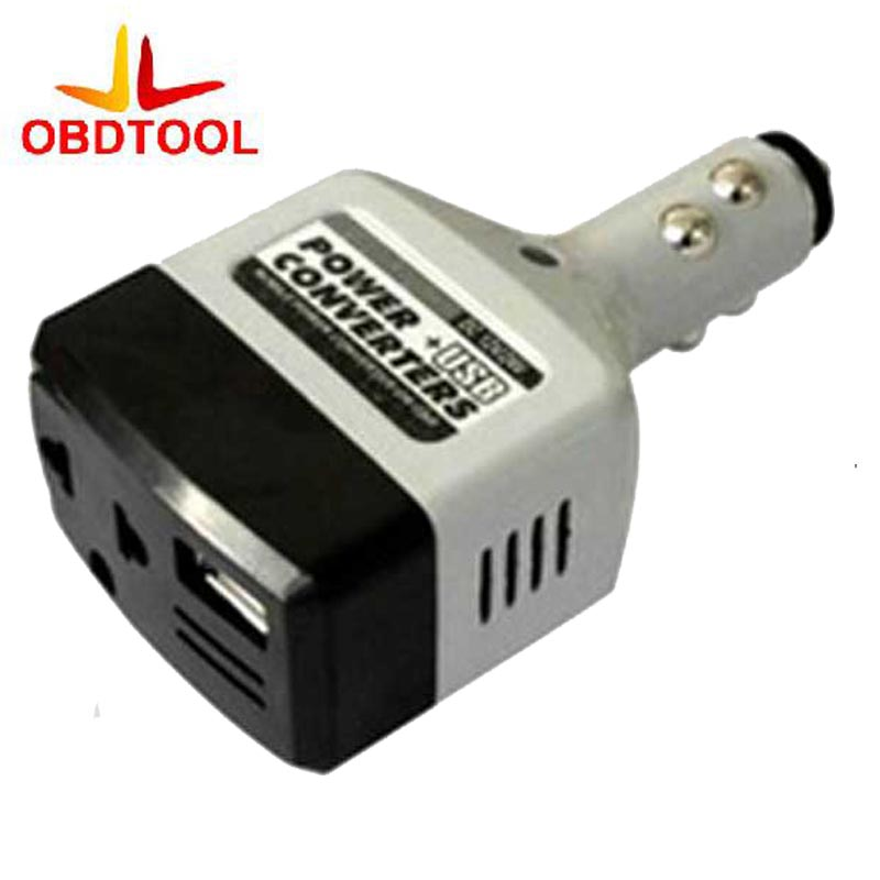 ObdTooL 12V to 220V USB Interface Car Power Converter Inverter for Mobile Phone Charger Car Power Adapter