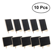 10pcs Mini Rectangle Chalkboards With Support For Message Board Signs Wedding Dinner Party Table Place Card Signs(China)