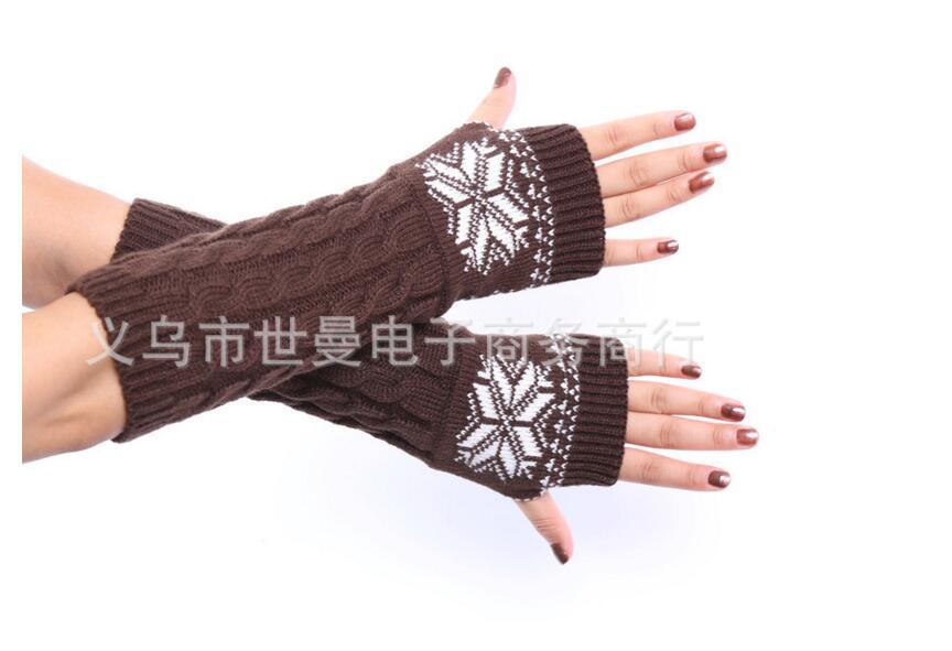 60 Paare/los Damen-accessoires New Design Winter Warme Snow Flake Handschuhe Weihnachtsgeschenk Großhandel