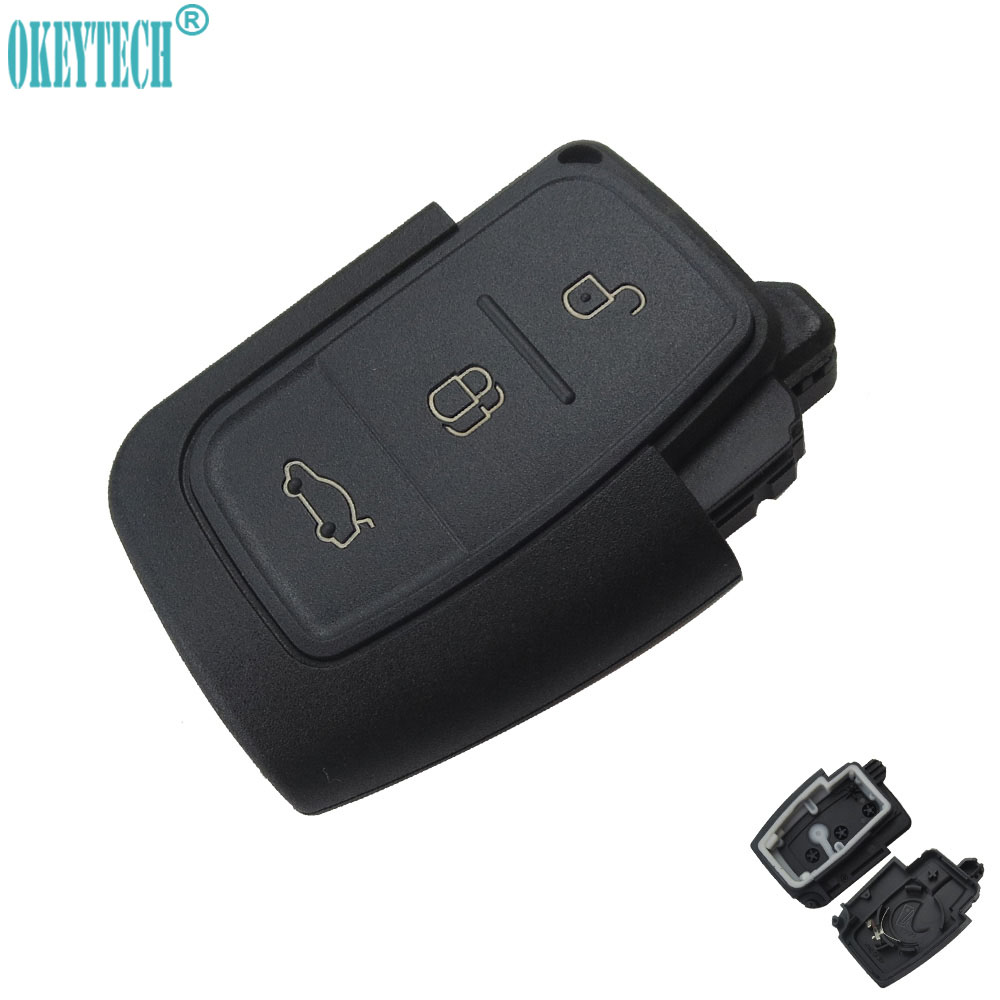 Okeytech new replacement 3 buttons car remote flip key shell case fob for ford fiesta focus