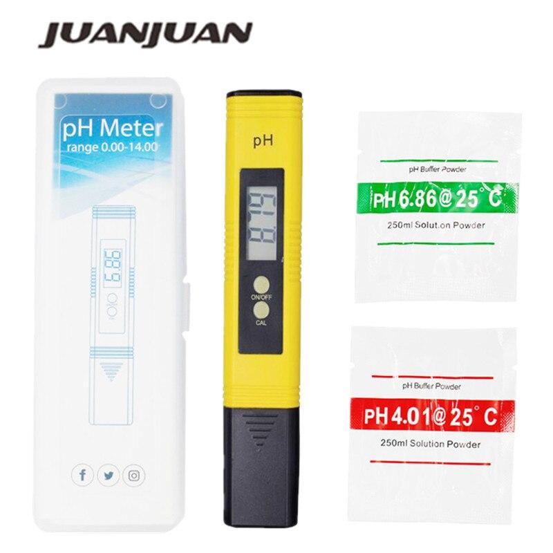 Nuevo portátil LCD Digital medidor de PH pluma de precisión 0,01 acuario agua de la piscina vino orina calibración automática 15%
