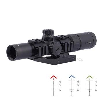 Tactical 1.5-4X30 Rifle scope arisoft Rifle Scope w/ Tri-Illuminated Chevron Recticle Optics Sight for Hunting