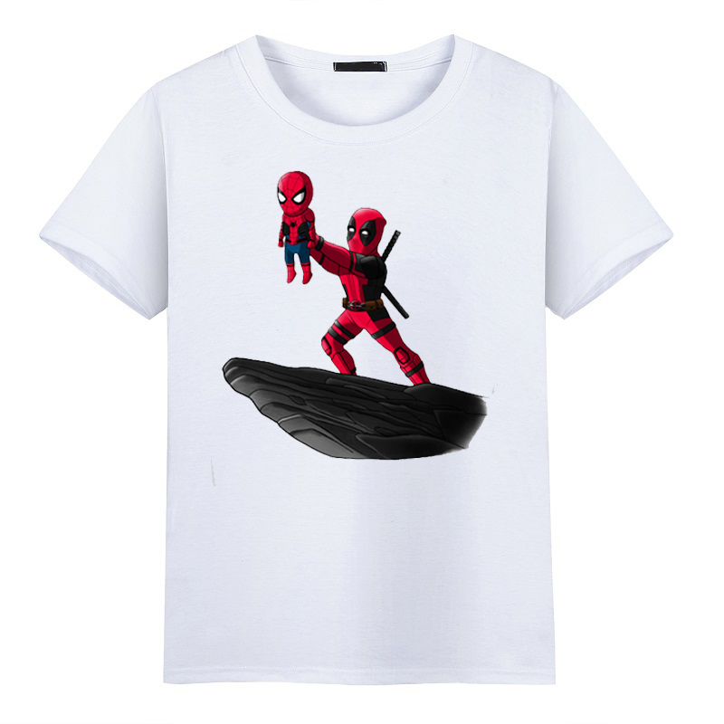 2017 Funny Deadpool Men T shirt Fashion Regenerating Jackass Design Tops The Darth King Printed O-Neck Short Sleeve T-shirts