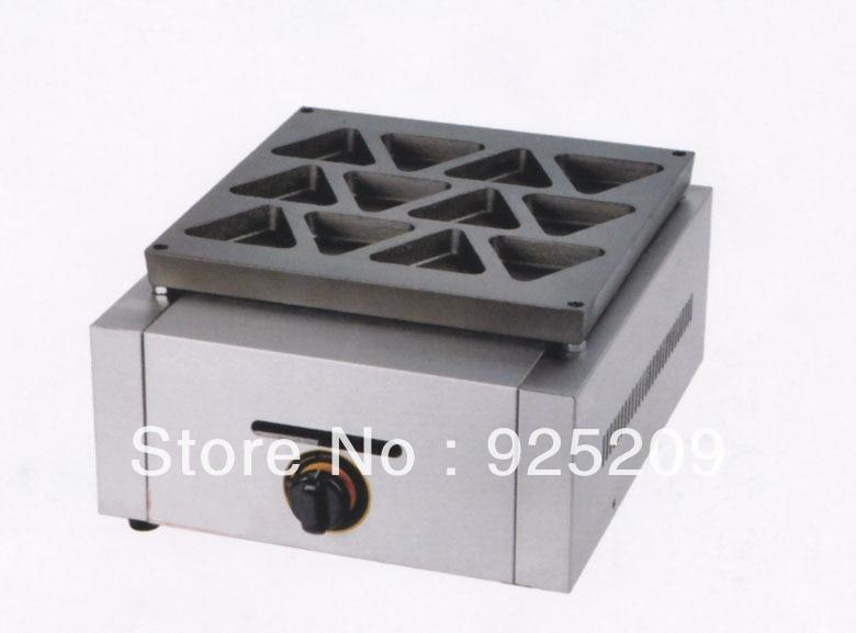 GAS TYPE 12 hole Electric reb bean cake machine/ waffle maker/ sandwich maker hot sale 32pcs gas bean waffle maker