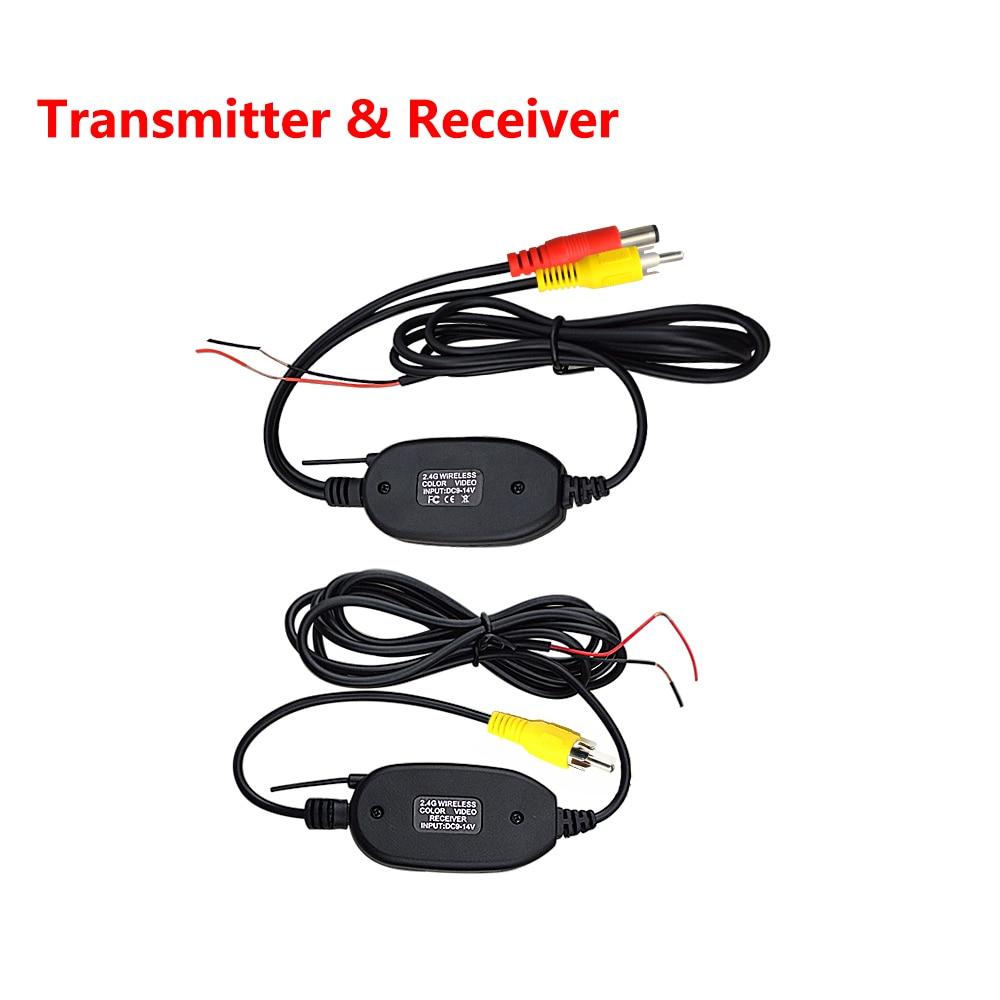2.4 Ghz Wireless Videocamera vista posteriore RCA Video Trasmettitore e Ricevitore Kit per Monitor di Rearview Dell'automobile FM Trasmettitore e Ricevitore