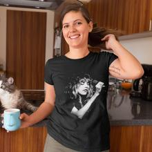 цена Stevie Nicks T-Shirt Stevie Nicks T Shirt Printed Silver Women tshirt Kawaii Summer Short-Sleeve 100 Cotton Ladies Tee Shirt онлайн в 2017 году