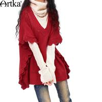 Artka Women S Spring Lace Ruffle Pullover Knitted Sweater Outerwear 3 Yb10328q CARRIE