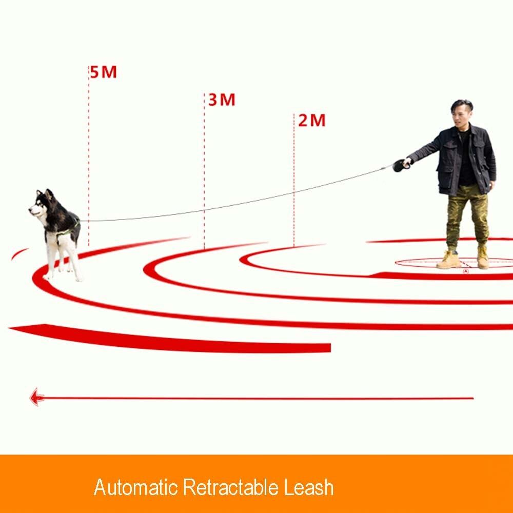 Hipidog 3 M 5 M Yansıtıcı Geri Çekilebilir Köpek Tasma Otomatik - Evcil Hayvan Ürünleri - Fotoğraf 2