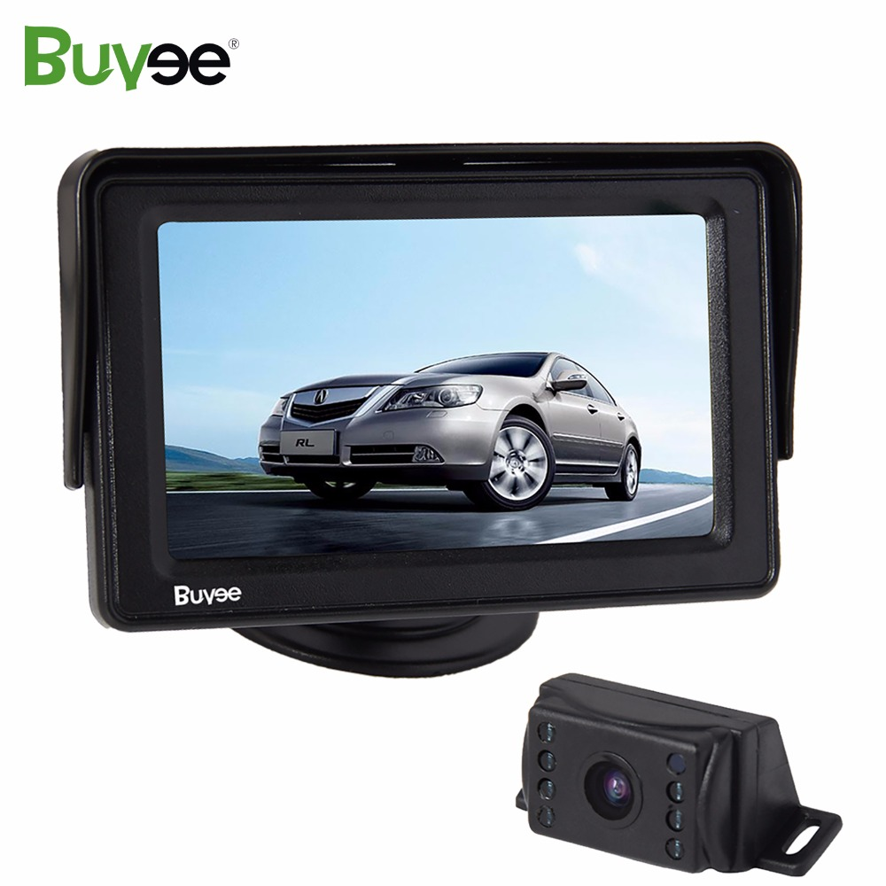 Buyee 4.3'' LCD Car Rearview display Monitor + waterproof IR Night Vision Car Rear View Reverse Camera Auto Parking system kit