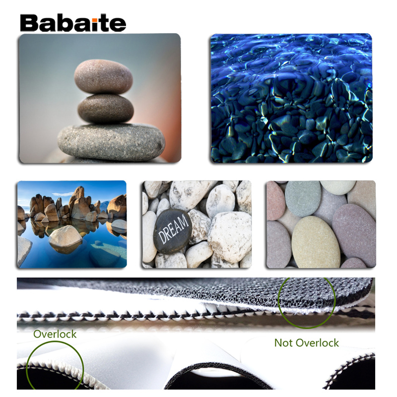 Babaite Personalized Cool Fashion Stone Laptop Gaming Mice Mousepad Size for 180x220x2mm and 250x290x2mm Small Mousepad