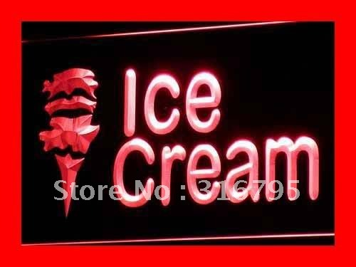 i113 OPEN Ice-cream Cafe Mini Bar NR LED Neon Light Signs On/Off Switch 20+ Colors 5 Sizes