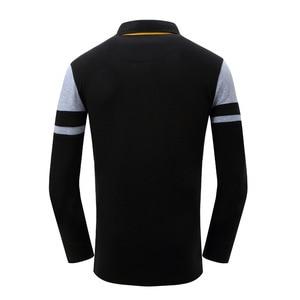 Image 4 - Avrupa boyutu yeni marka erkek katı uzun kollu Polo GÖMLEK sonbahar tam kollu sıcak gömlek Casual baskı üstleri kot mavi 057