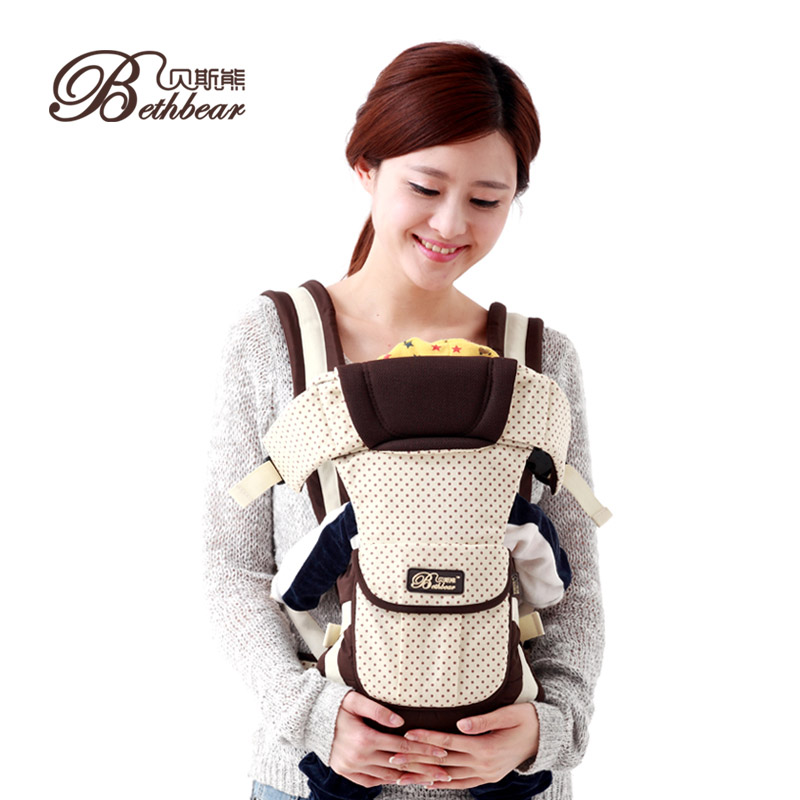 0-24 Months Breathable dot print 4 in 1 popular Front Carry Cotton Baby Carrier Infant Sling Backpack Pouch Wrap Baby Kangaroo0-24 Months Breathable dot print 4 in 1 popular Front Carry Cotton Baby Carrier Infant Sling Backpack Pouch Wrap Baby Kangaroo
