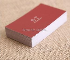Image 3 - ฟรีออกแบบนามบัตรนามบัตรพิมพ์กระดาษโทรการ์ด,กระดาษVisiting Card 500 ชิ้น/ล็อต