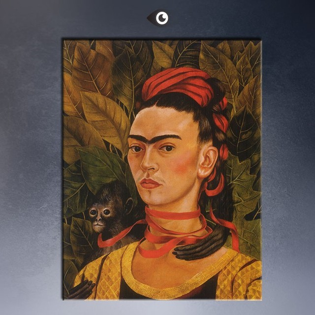 Oil Painting Portrait By Frida Kahlo Hand Made Wall Picture Painted On Canvas
