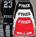 Шорты Хип-Хоп Pyrex Pyrex Женщины и Мужчины Шорты лучший вид Pyrex Хип-Хоп Шорты красный черный Белый, L, XL, XXL