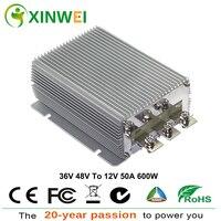 XINWEI DC36V 48 V для DC12V 50A 600 W Step Down усилитель Преобразователь мощности Алюминий инверторы и преобразователи неизолированный бак IP68