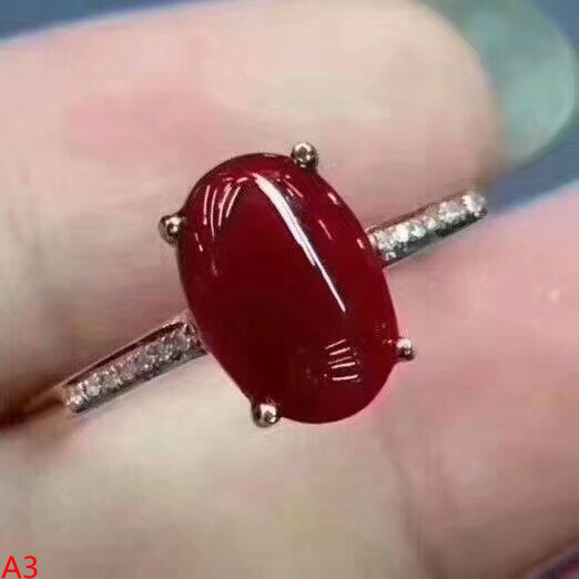 KJJEAXCMY Fine jewelry 925 pure silver inlaid natural red coral, female ring, micro inlaid jewelry. kjjeaxcmy fine jewelry 925 sterling silver inlaid natural blue loose female ring ring
