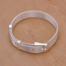 H237 Wholesale silver plated shinning bracelet, free transport 925 stamped vogue jewellery Small Internet Watch Belt Bracelets