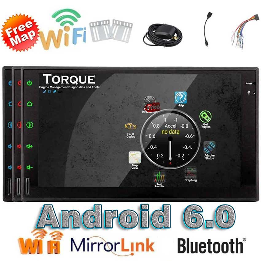 Eincar Android 6.0 Car Stereo 1080P Touch Screen Double Din Car Autoradio Head Unit GPS Navigation 4G WIFI OBD2 FM/AM RDS Radio double din android 6 0 quad core 1gb 16gb car stereo 7 inch 1024x600 touch screen head unit gps navigation bluetooth wifi am fm
