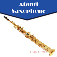 Afanti Music Bb tone / Brass body / Gold finish Soprano Saxophone (ASE-400)