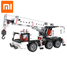 Xiaomi Mitu Building Blocks Miniature City Engineering Crane Robot Educational DIY Toys Car Truck 360 Rotating Control Steering