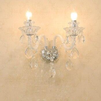 Lustres En Cristal Blanc Lustres LED Modernes Pour Salon Lampe Nordique Décoration De Mariage Lumières Lustre Blanc éclairage