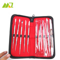 10 Pcs / Set High Quality Dental Lab Equipment Wax Carving Tools Set Surgical Dentist Sculpture Knife Instruments Tool Kit