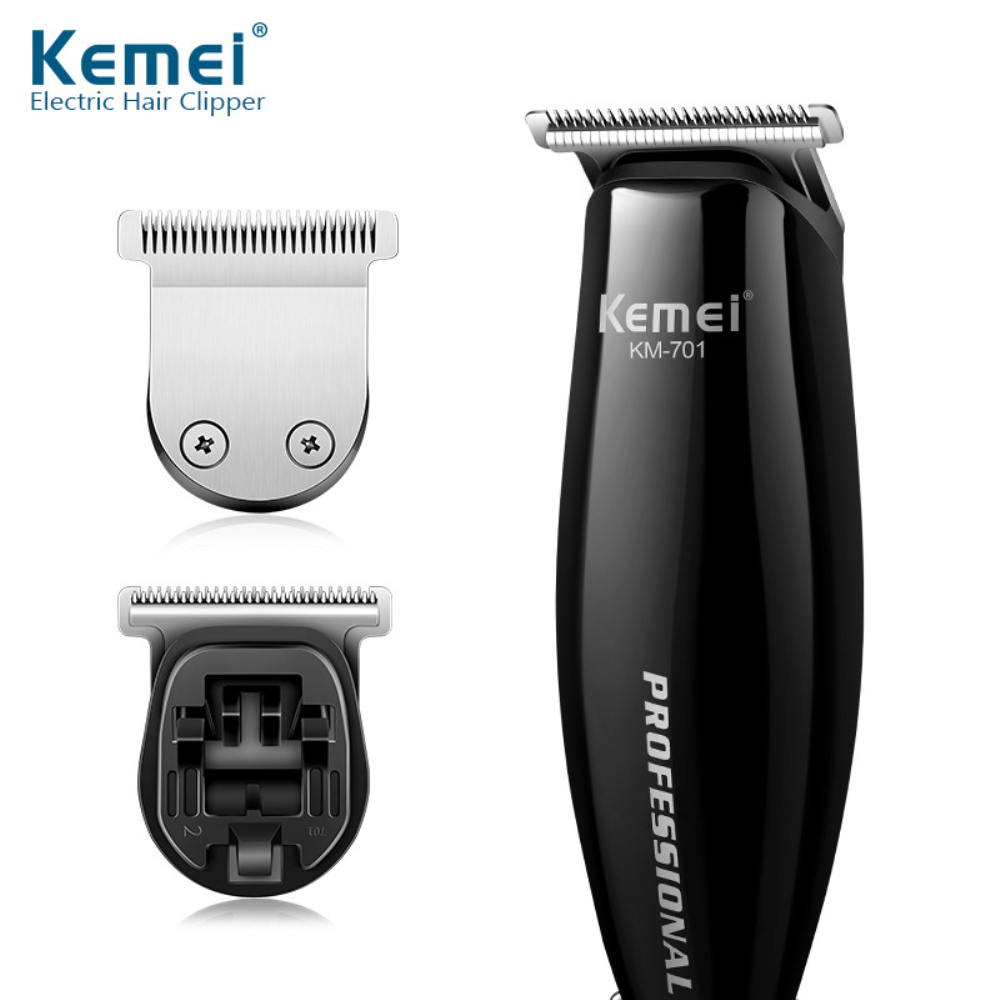 Kemei Slick-back Hair Clipper With Wire Incidental Two Different Cutter Heads & Limit Combs Haircut Machine 40D