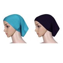 Muslim Women Head Scarf Cotton Stretch Hijab Cover wrap Cap Shawl Islam Inner Headband Bonnet