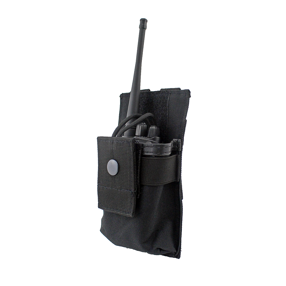 Tactical Radio Case Holder Holster Walkie Talkie Holster Adjustable Molle Pouch Open Top Magazine M4 Mag Pouch tactical army force leather shoulder pistol holster for 654k with magazine pouch